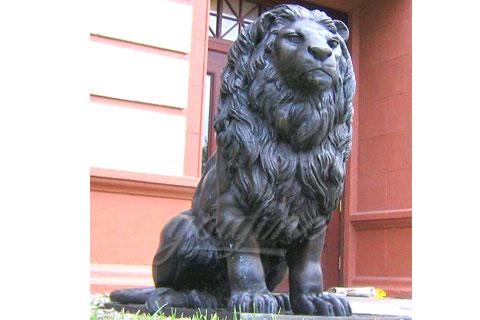 Manufactured metal crafts cast antique bronze lion sculptures